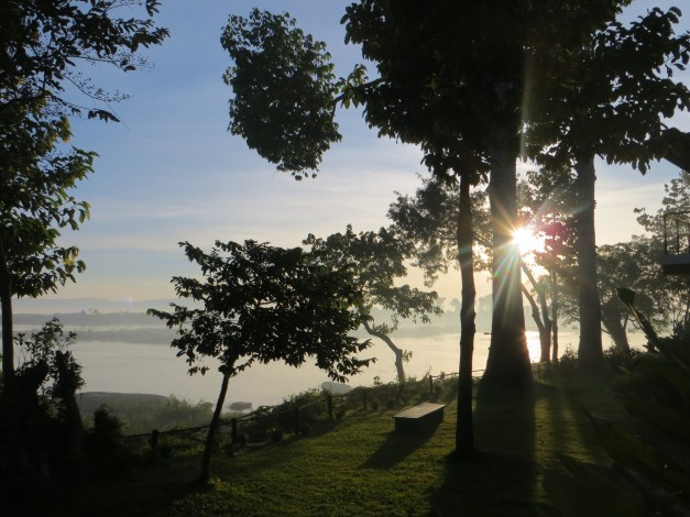 We love to watch the sun rise over the Mekong