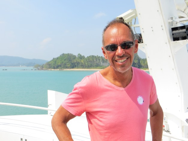 On the boat from the mainland to Koh Tao