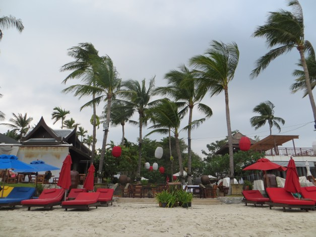 Chaweng Beach, though as you might be able to tell from the picture not exactly beach weather.