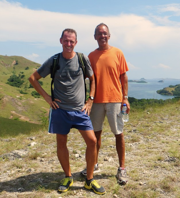 Mark and Jim atop Rinca Island, having survived our encounters with dragons