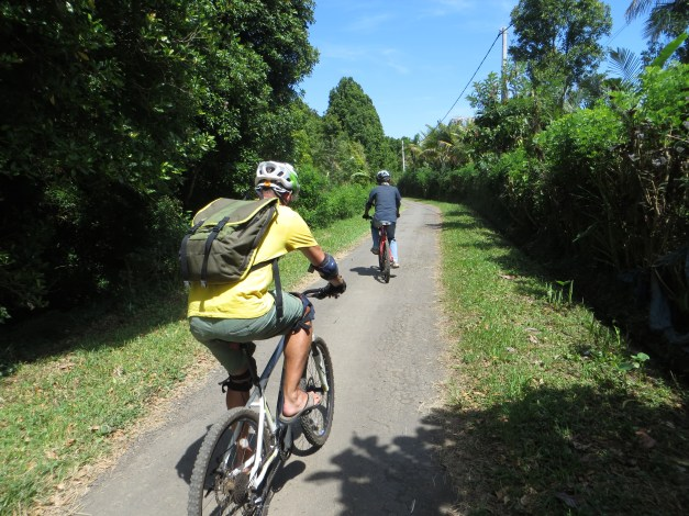 This was the paved part of the bike trip - much easier than the rough trails at the start