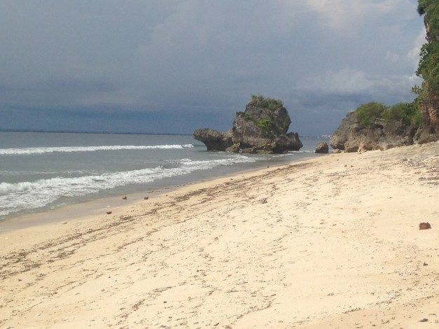 A quiet, hidden beach near Temple Lodge. That's one part of Southeast Asia we'll miss.