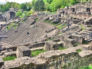 We hiked up to a 2000-year-old Roman amphitheater that looks over today's city