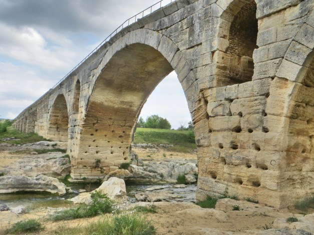 A highlight of our long route today was this old Roman bridge, some 2,000 years old