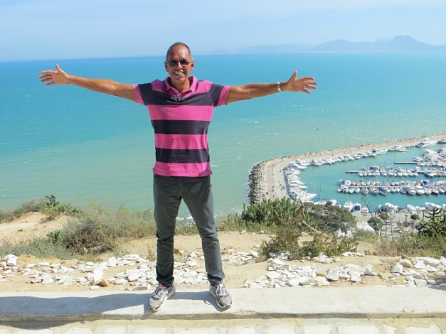 And yes, Jim too helped contribute to the vibrancy of Tunis with his colorful new shirt he picked up in Marseille