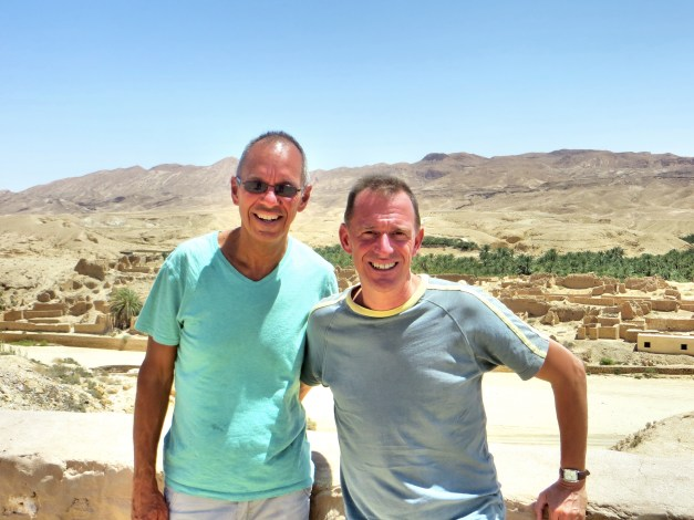 Overlooking the ruins of Tamerza, one of three oasis villages in the area destroyed in 1969 by 23 consecutive days - 23 days! - of torrential rains. All three villages were rebuilt on newer sites since you don't just let oases go to waste in the desert.