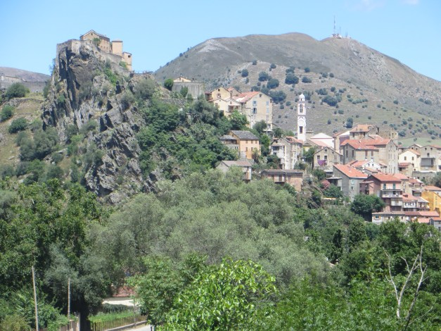 The view of Corte on the walk from our hotel