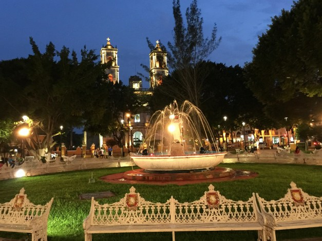 Life in Valladolid revolves around the Parque Francisco Cantón Rosado.