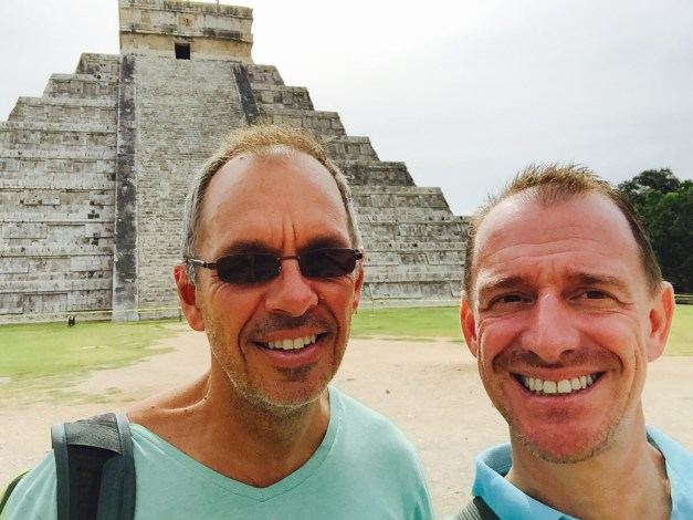 Selfie in front of El Castillo, notably free of climbing tourists