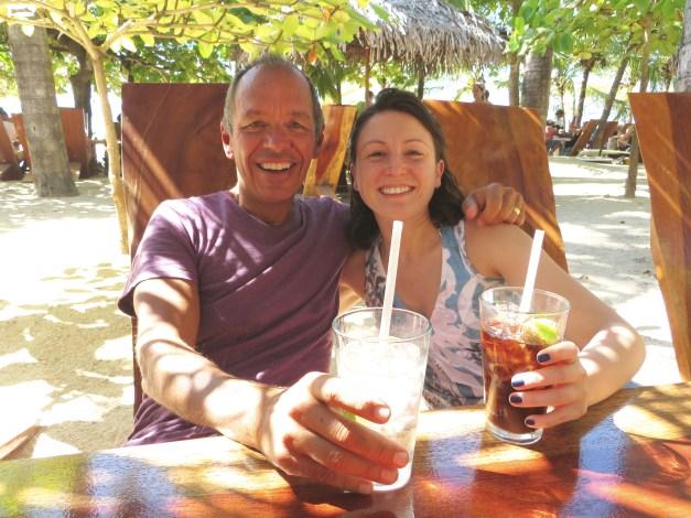 Lunch at Lola's, the stylish beach shack named after a pig at beautiful Playa Avellanas