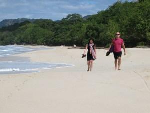 Alex & Vlad walking on one of the many beautiful isolated beaches we enjoyed
