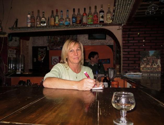 Carla the bartender at Cameleon. Mayhem ensued.