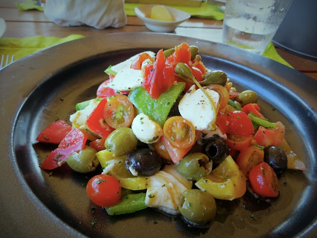 A Greek salad for lunch
