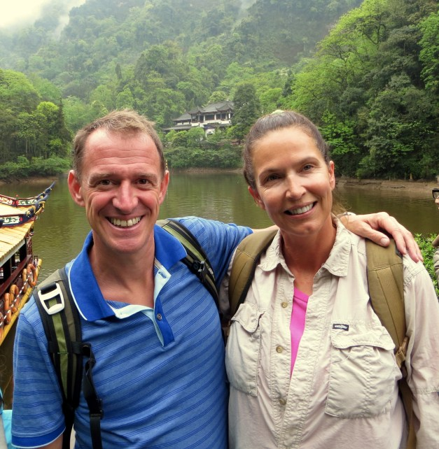 Mark & Anita on our way up Mount Qingcheng