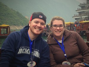 The other highlight is making new friends, easier in a confined environment like a cruise. Here are Peter and Lauren, new friends from British Columbia.