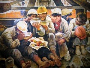 Maybe I'm weird, but I love communist art. This piece from the city's art museum shows how happy and well-fed Chinese workers were in the 1950s.