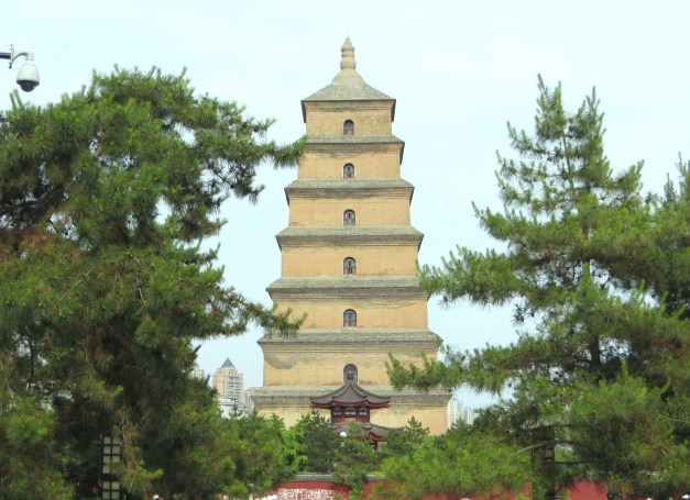The Giant Wild Goose Pagoda, just a stone's throw from our hotel