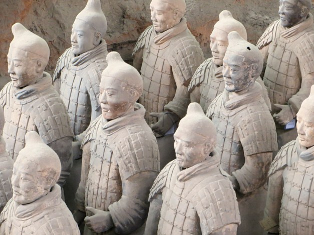 Just a few of the warriors guarding Emperor Qin Shi Huang's third century BC tomb