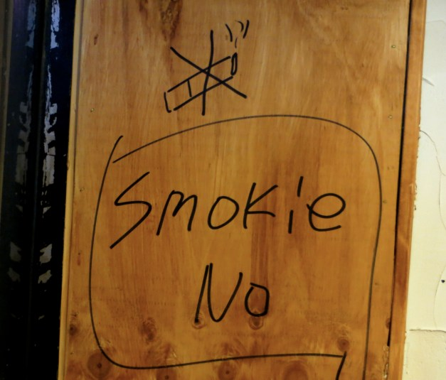Finally, we were glad to note that smoking was not allowed at our restaurant in Gyeongju