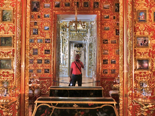 Another photo from the museum, this time in some gilded, mirrored room
