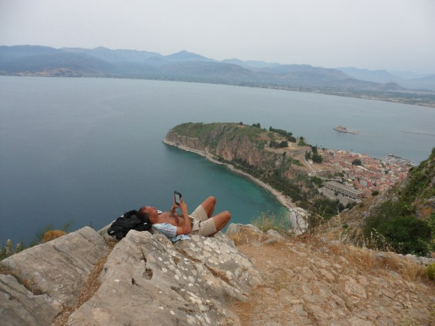OK, this was from our trip to Greece in 2012, but I wanted photographic evidence that I was once atop the Palamidi Fortress, too
