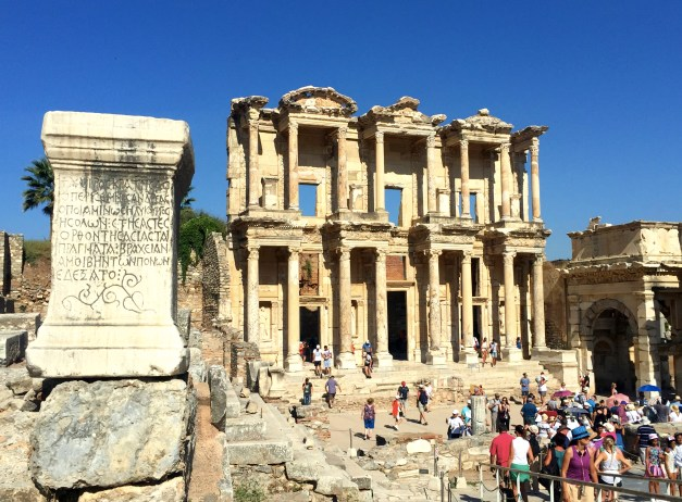 The Library of Celsus, essentially a university of its time and the iconic symbol of Ephesus