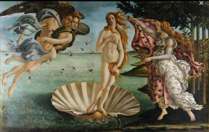 The Birth of Venus, by Boticelli, is probably the Uffizi's most famous piece