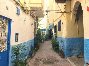 The Kasbah and medina are a warren of these little colorful streets