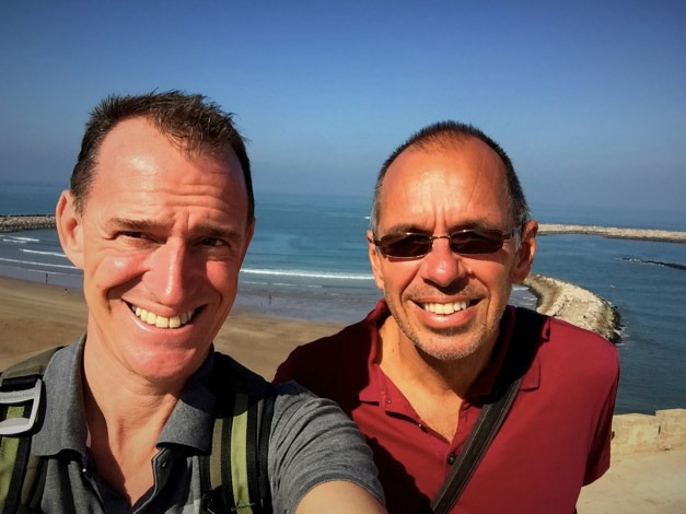 Here we are on the edge of Rabat's Kasbah overlooking the Atlantic. The weather of late has been fabulous as you can see here.