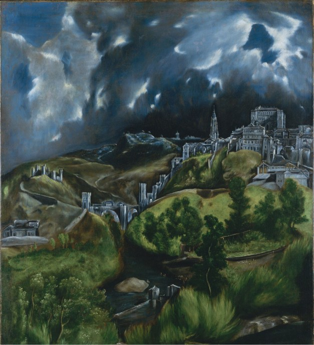 "El Greco's ""View of Toledo,"" now at the Museum of Modern Art in New York, was one of my favorite paintings back when I was in Europe in the 1970s. Surprisingly, the city doesn't really look anything like this."