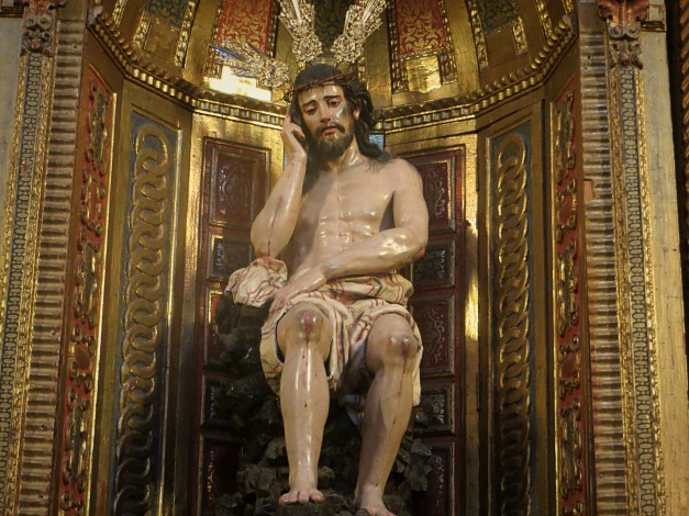 While touring Granada's Cathedral we encountered this Jesus on His Cell Phone statue