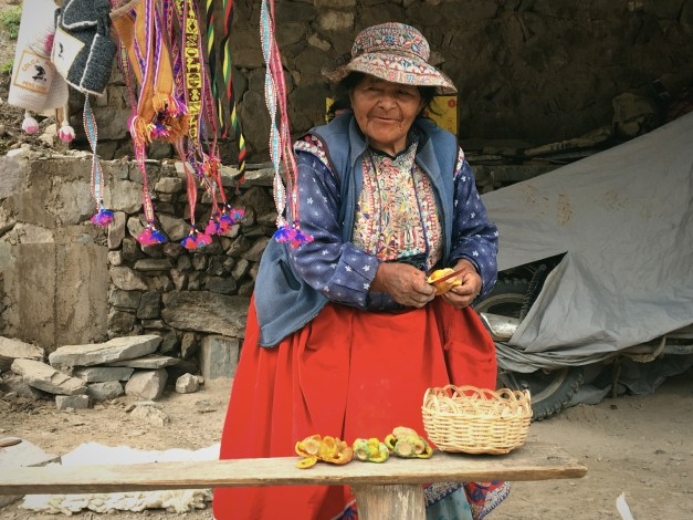 This 74-year old woman is selling tuna. We'd been confused in Mexico when we saw tuna ice cream for sale, but learned here that tuna is the name of a cactus fruit. She was selling them for about 10 cents each, though they were worth a LOT more than that; they were really good.