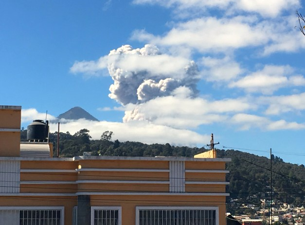 As we walked out, we noticed billowing smoke from some volcanic emission. It continued to grow and loom, but locals didn't pay it much attention; apparently it's not that uncommon.