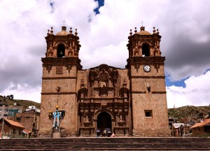 The cathedral on Puno's main square