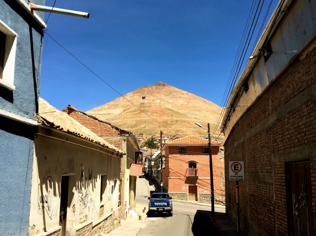 Cerro Rico, looming over Potosí, was the source of most of the silver that financed the Spanish Empire