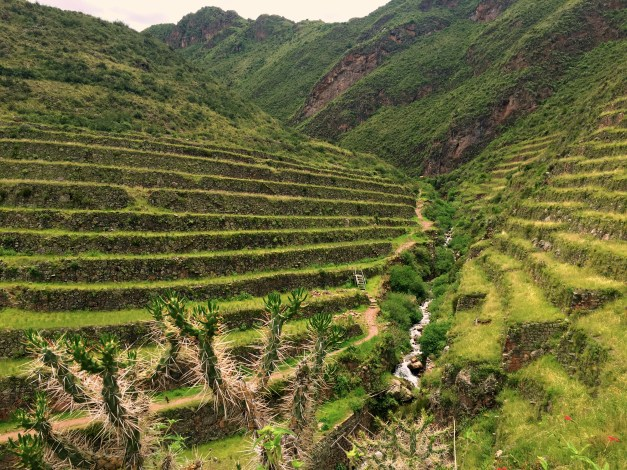 Some of the old terraces along the trail in Pisac