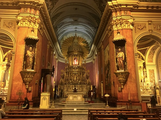 An interior view of the grand cathedral