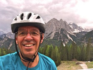 And me, very happy to have reached the top of the climb