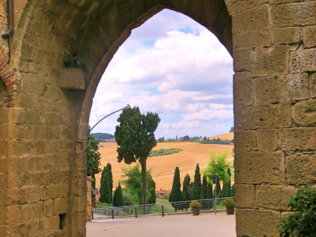 The view out of Monticchiello from one of the town's original gates