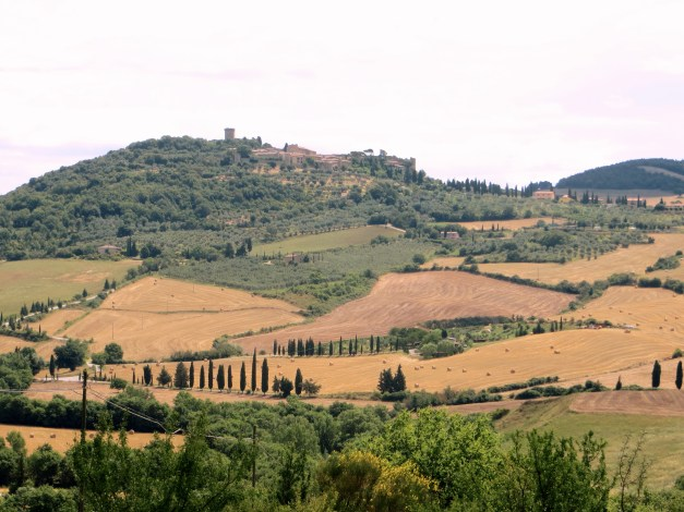 A view of Monticchiello on our way to Pienza. And yes, to get there we walked up that hill, then back down into the valley, before walking back up into Pienza. It was definitely worth it.