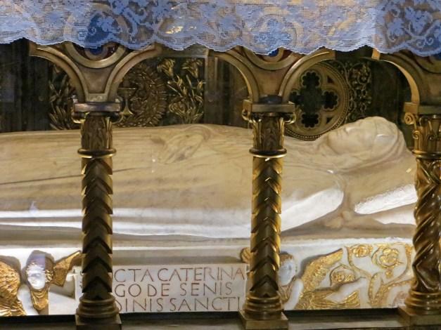 The body - minus the head - of St. Catherine of Siena, from the Church of Santa Maria Sopra Minerva