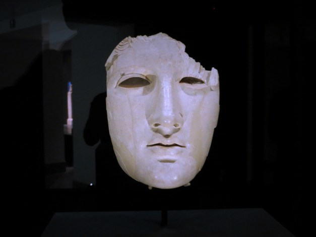 And finally, one last piece from the National Museum of Rome. This ivory face has a room of its own in the museum and a great story, to boot. It was found in the 1990s in a barn in Italy. As officials investigated they discovered that it was being hidden there by a cabal of archeologists who sell to secret collectors in violation of all sorts of national laws. This particular group was busted, but apparently sales of this sort of stuff to secret collectors is quite a thing.