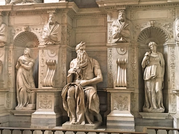 Michelangelo's stunning Moses, where tour guides are not supposed to block your view