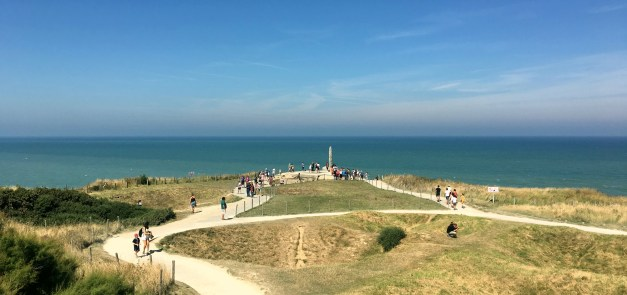 Pointe du Hoc, where President Reagan commemorated the 40th anniversary of D-Day