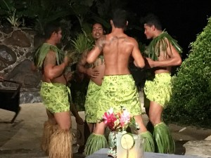 "On Friday nights restaurants put on ""fiafiia,"" a fun dance performance that features lots of shouting and chest pounding"