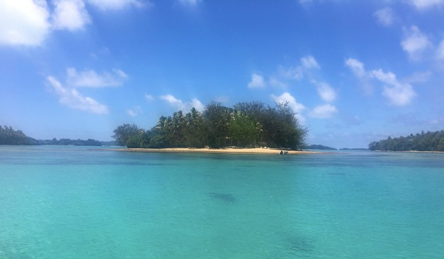 That's Fetoko Island, our isolated South Pacific home for a week