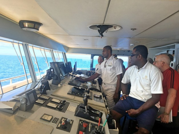 On the last day they offered us a tour of the bridge. I actually spent many, many hours on the bridge when I was in the Navy but, to my surprise, the technology they use has changed in the last 40 years!