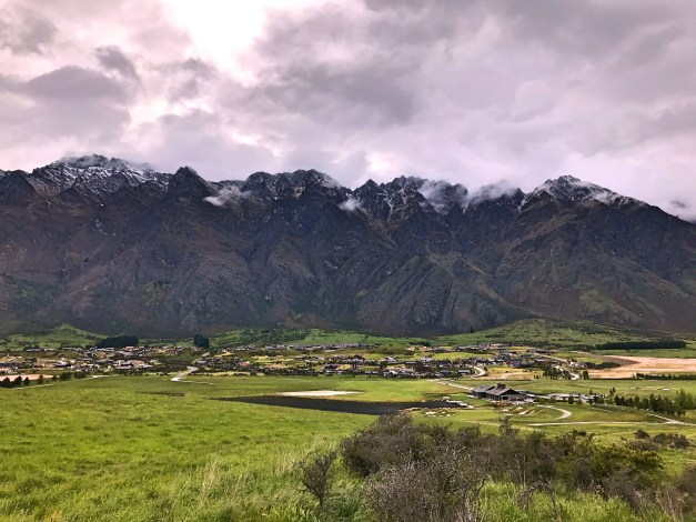 A view of the Remarkables, Queenstown's surrounding mountain range