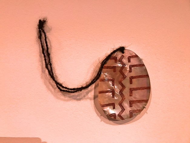 GOMA included an emphasis on indigenous art, including this pearlshell pendant made by Aubrey Tigan, a Western Australian tribal elder