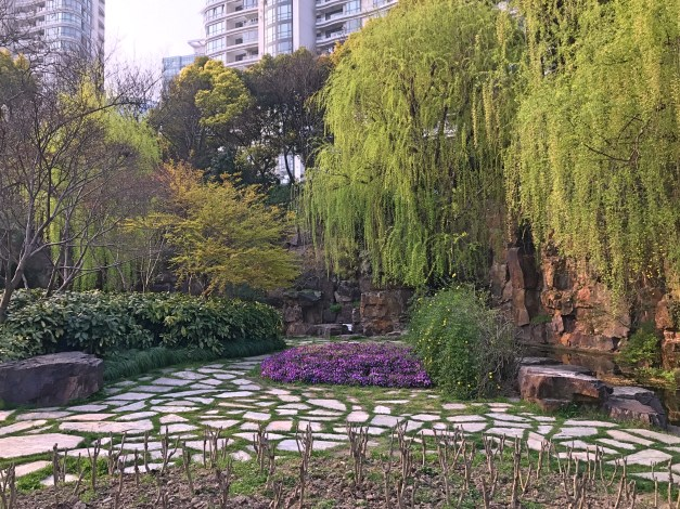 The French Concession area has beautiful parks that feel, well, Parisian